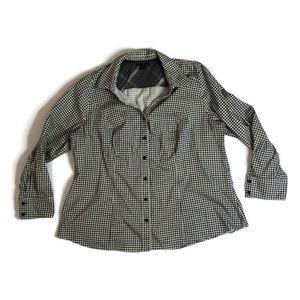 Lane Bryant Sz 22 Houndstooth Shirt Long Sleeve